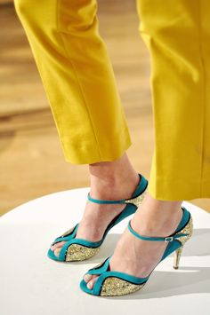 My dream shoes!  My favorite colors all combined...turquoise, black, and sparkling gold!