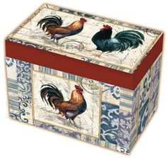French Rooster Recipe Box
