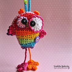 Rainbow Owl by Vendulka Maderska - her first creation in 2015