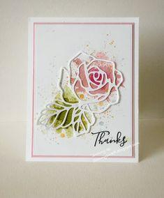 rose garden Stamps:Rose Wonder, Work o - Paper Cards, Diy Cards, Karten Diy, Stamping Up Cards, Paper Roses, Watercolor Cards, Sympathy Cards, Creative Cards, Flower Cards