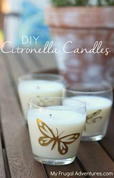 Homemade Citronella Candles-- so simple to make and a perfect summer hostess gift! This is a copycat Anthropologie candle that retails for $40!