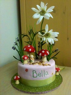Woodland Fairy Cake--for the girl Woodland Fairy Cake, Birthday Cake Girls, 2nd Birthday, Birthday Cakes, Birthday Ideas, Fairy House Cake, Glamour Cake, Fairy Tea Parties, Cake Pictures