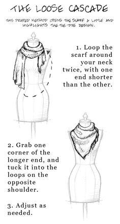 Sjaal - Shawl - Omslagdoek / Scarf: ~Manier om een sjaal te knopen *How To Tie A Scarf~