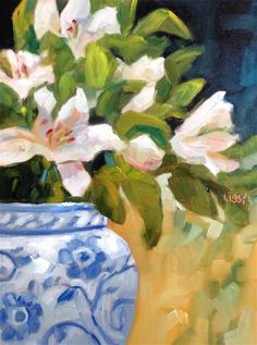 "Daily+Paintworks+-+""Lily+Decision""+-+Original+Fine+Art+for+Sale+-+©+Libby+Anderson"
