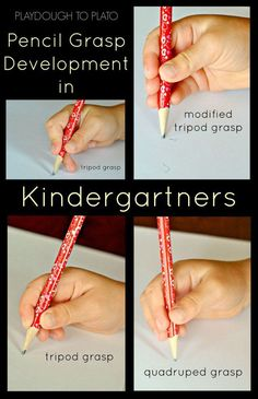 Pencil grasp development in kindergartners. What it looks like and when to be concerned.