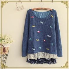 Buy 'Fairyland � Layered Embrodiered Knit Top' with Free International Shipping at YesStyle.com. Browse and shop for thousands of Asian fashion items from China and more!