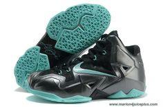 Carbon Black/Neo Turquoise Nike Lebron XI (11) Online
