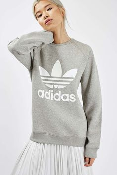 Trefoil Crew Sweat by Adidas Originals - Tops - Clothing - Topshop Europe