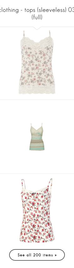 """clothing - tops (sleeveless) 03 (full)"" by ju-wise ❤ liked on Polyvore featuring tops, shirts, tank tops, tanks, blusas, multi color, colorful tank tops, multicolor shirt, floral print shirt and floral camisole"