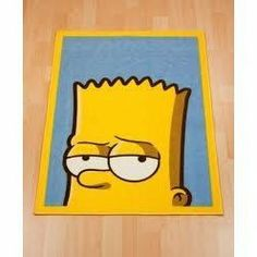 Childrens/Kids Boys Bart Simpson Bedroom Floor Rug/Mat (26 x 35 Inches ) (Yellow/Blue) by The Simpsons. $26.66. Size: 65cm x 90cm approximately.. Perfect accessory for a childs bedroom.. Machine washable.. Great quality bedroom rug.. Fibre: Pile 100% Polyamide.. Great quality bedroom rug. Size: 26 x 35 Inches approximately. Perfect accessory for a childs bedroom. Fiber: Pile 100% Polyamide. Machine washable.