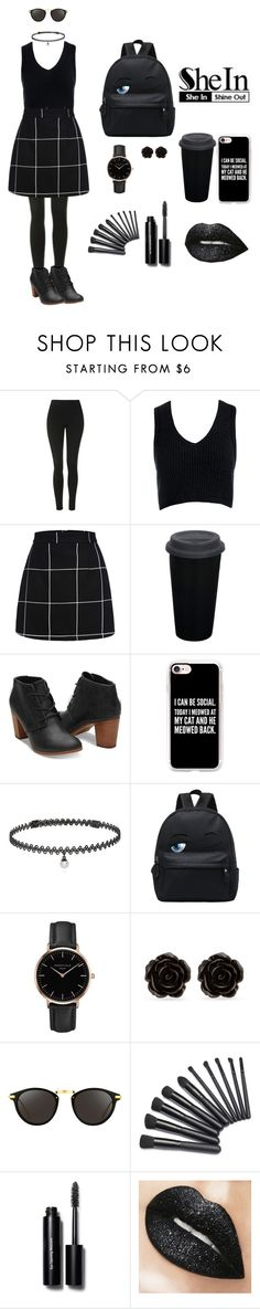 """""""Black is my happy color ⚫⚪"""" by camillefashionlove ❤ liked on Polyvore featuring Topshop, Sans Souci, Casetify, BERRICLE, Erica Lyons, Linda Farrow and Bobbi Brown Cosmetics"""