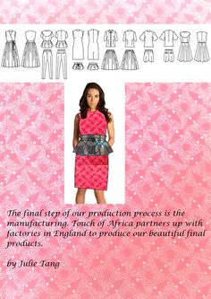Touch of Africa Fabric Production Africa, Touch, Clothes For Women, House Styles, Fashion, Outfits For Women, Fashion Styles, Fashion Illustrations, Trendy Fashion