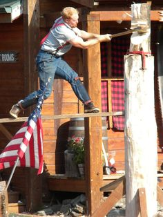 Lumberjack show in Alaska