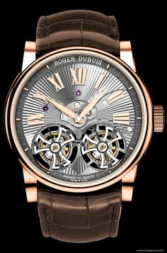 SIHH 2014 - Roger Dubuis - Hommage Double Flying Tourbillon with hand guilloché