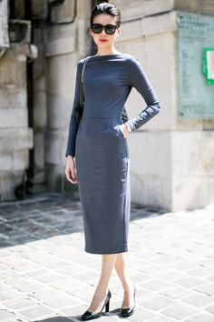 that dress is perfection... tip of the hat to the tailor. @ Paris Couture Week.