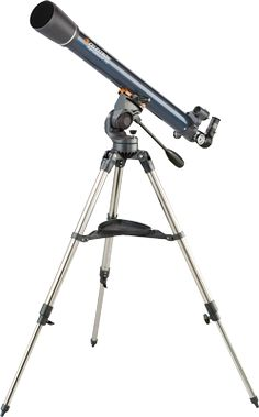 Immerse yourself in the fun of astronomical exploration using this Celestron AstroMaster 21063 telescope that features and eyepieces and magnification power for viewing clarity and a StarPointer finderscope for targeting objects.