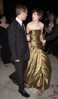 Hilary Swank,Oscar Dress 2000  By Randolph Duke