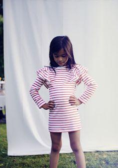 Dress stripes sailor girl kids children