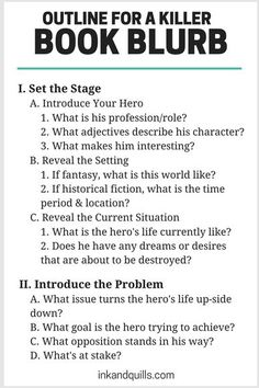 Condensing a novel into a short, enticing book blurb that convinces readers to buy is no easy task. If you have no idea what to include in your blurb, this simple outline of the must-haves will help! writing tips Writer Tips, Book Writing Tips, Writing Words, Fiction Writing, Writing Process, Writing Quotes, Writing Resources, Writing Help, Writing Skills