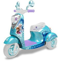 Disney Frozen Elsa and Anna 3 Wheel Girls Scooter 6 Volt Battery Powered Ride On Little Girl Toys, Toys For Girls, Kids Toys, Baby Girl Toys, 3 Wheel Scooter, Kids Scooter, Disney Frozen Toys, Disney Frozen Nails, Frozen Kids