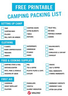 Planning Your Next Camping Trip Our Free Printable Ng List To Find Out