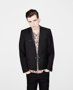 The Kooples blazer jacket with leather lining