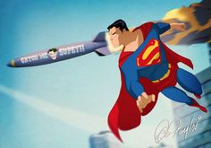 Catch Me If You Can, Superman! By Des Taylor by DESPOP.deviantart.com on @DeviantArt