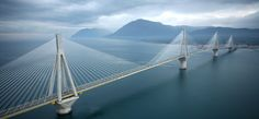 Rio–Antirrio bridge, Greece. This is the world's longest mult-span cable stay bridge. It links Rio and Antirrio and is 2,880 m long
