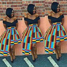 Now you know what to do with that ankara that has been in your closet. pic via @ankarastyles #ankarainspiration #skirt #welove #unique #sugar