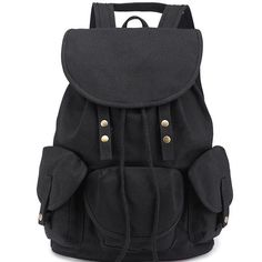 6f752511ec75 Unique High School Bag Leisure Student Travel Canvas Backpack