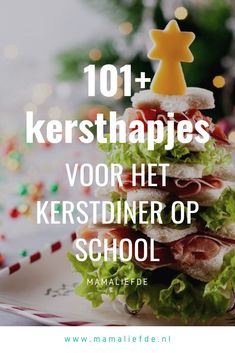 Kersthapjes voor school easy Christmas snacks for the Christmas dinner at school Christmas Food Treats, Christmas Snacks, Xmas Food, Christmas Appetizers, Christmas Diy, Tapas, High Tea, Healthy Dinners For Two, Little Presents