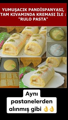 Roll Cake Recipe, How To (As if taken from the cake) - Roll of pastry cake recipe … Banana cake … they - Seafood Recipes, Soup Recipes, Cake Recipes, Pasta Recipes, Fun Easy Recipes, Easy Appetizer Recipes, Easy Meals, Pin On, Vegan Appetizers