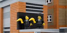 Pulp Fiction Bananas. | 12 Classic Pieces Of Banksy Street Art Recreated In LEGO