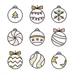 Christmas is coming and you may want to write your bullet journal or handmade Christmas card, then you must need these Christmas doodles! These Christmas doodles are cute and teach you step by step how to draw them perfectly, so you can learn easily. Bullet Journal Christmas, December Bullet Journal, Bullet Journal Writing, Bullet Journal Ideas Pages, Bullet Journal Inspiration, Christmas Doodles, Diy Christmas Cards, Christmas Baubles, Christmas Art
