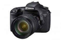 CANON 7D - The 7D captures full HD video at 30, 24, or 25p. Has an 18 Megapixel CMOS sensor, records on CF card.