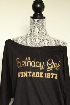 birthday gifts for women l Vintage 1979 Birthday shirt l best friend Mom Sister Birthday Custom Birth Year Happy Birthday shirt - Birthday Shirts - Ideas of Birthday Shirts - 40th Birthday Gifts For Women, 40th Birthday Parties, Birthday Girl Shirt Womens, Adult Birthday Ideas, 21st Birthday Shirts, 35th Birthday, Birthday Recipes, Sister Birthday, Birthday Woman