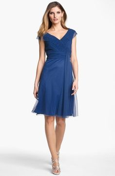 For the bridesmaid color inspiration  Patra Pleated Portrait Collar Dress available at #Nordstrom