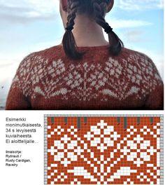 Knitting Charts, Knitting Socks, Knitting Patterns, Crochet Patterns, Crochet Chart, Knit Crochet, Crafts To Do, Diy Crafts, Icelandic Sweaters