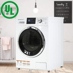 New BestAppliance Washer Dryer Combo Combination Washing Machine Turbo Wash ft. Capacity Compact Laundry 24 Inch Electric Dryer Washer Stainless Steel Drum Four Transport Bolts,White online - Prettyclothingstyle Compact Washer And Dryer, Compact Laundry, New Washer And Dryer, Electric Laundry, Electric Dryer, Compact Washing Machine, Stainless Steel Drum, White Appliances