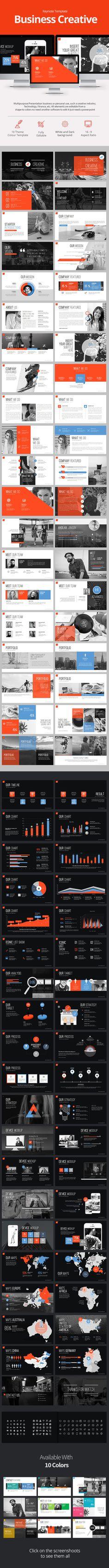 Business #Creative #Keynote #Templates - Keynote Templates Presentation Templates Download here: https://graphicriver.net/item/business-creative-keynote-templates/20292236?ref=alena994