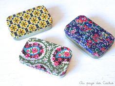 Altoïds boxes with fabric / Boîtes en fer recouvertes de tissu - Au pays des Cactus