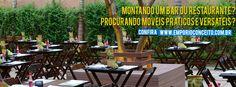Mesas e Cadeiras dobráveis em Madeira. O Empório está desde 1998 atuando no mercado de móveis para bares e restaurantes.