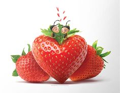 Behance, Illustration, Strawberry, Fruit, Gallery, Check, Food, 2015 Calendar, Meal