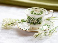 Lily Of The Valley Tea Cup ~