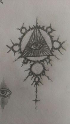 All seeing eye tattoo idea