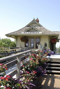 Train Station By Katy Trail Beautiful Historic St. Charles