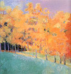 """Wolf Kahn - Fall Splendor, 1992, oil on canvas, 50 x 52"""""""