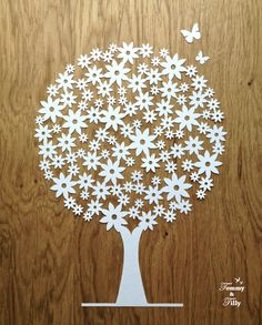 Daisy Tree Design Papercutting Template to by TommyandTillyDesign