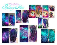 """Galaxy Hair"" by tigerfashion ❤ liked on Polyvore featuring art"