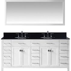 Web Photo Gallery Special Offers Cheap Virtu MD BGRO WH Caroline Parkway Double Bathroom